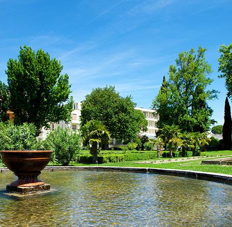 Parc et fontaine