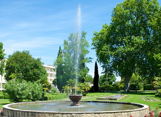 Fontaine et parc